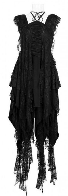 black lace *witch* gown <3