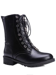 SHARE & Get it FREE | Black Color Lace-Up Combat BootsFor Fashion Lovers only:80,000+ Items • New Arrivals Daily Join Zaful: Get YOUR $50 NOW!