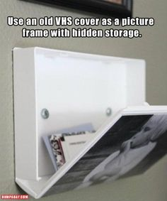 A use for old VHS tape cases.