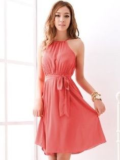 New Arrival Pure Color Empire Waist Two Pieces Set Chiffon … - $13 on @ClozetteCo