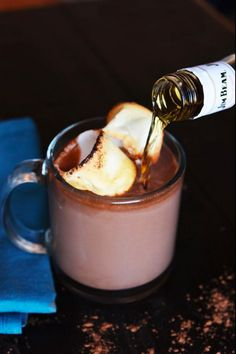 Bourbon-spiked slow cooker hot chocolate