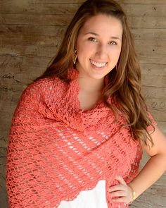 Flamingo Shawl Crochet Pattern