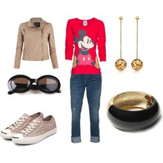 Minus the jewelry, I love this.  Casual School Fridays, created by Mahalia on Polyvore