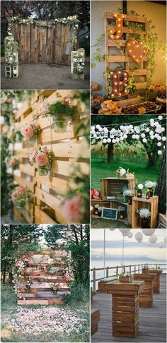 country wedding backdrops with wooden pallets #weddingdecor #weddingideas #rusticweddings #countryweddings