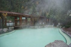 Harrison Hot Springs BC I've got to go to this hot spring some day, it looks very inviting. Oh The Places You'll Go, Great Places, Places Ive Been, Amazing Places, Spring Spa, Western Canada, Beautiful Sites, Next Holiday, Swimming Holes