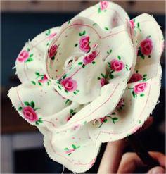 Flor de tecido estampado - Passo a passo - Arteblog