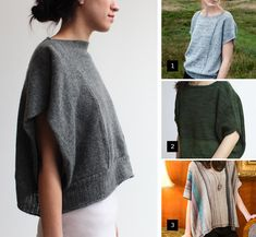 Reasonably close approximations of that Souchi sweater we all long for - Fringe Association Vest Pattern, Free Pattern, Cashmere Poncho, How To Purl Knit, Fashion Project, Pulls, Knitting Patterns, Knitting Ideas, Knitting Projects