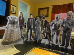 DIY Doctor Who table stand up characters tutorial ~ It's like paper dolls!