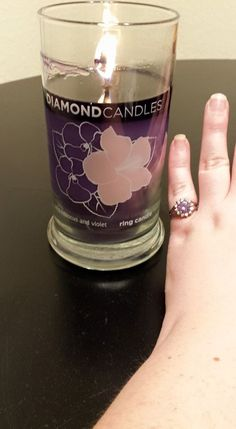 Dazzling ring that a customer discovered inside of her Diamond Candles. Looks like a fun one, indeed!