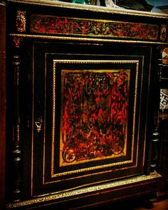 "Móvel de parede ""Boulle"" estilo Luis XV do Sec. XIX."