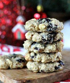 White Chocolate Chip Cherry Oatmeal Cookie Recipe from Call Me PMc