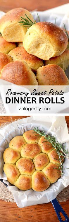 Rosemary Sweet Potato Rolls / Pizza Dough - Vintage Kitty