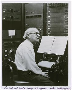 Milton Babbitt [1916, Philadelphia, PA - 2011, Princeton, NJ] was an American composer, music theorist, and teacher. He is particularly noted for his serial and electronic music.