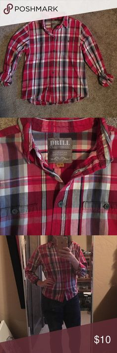 30406f8b05d Red Plaid Shirt The perfect plaid to throw under a vest or sweater for  those cool
