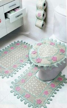 1000 Images About Crochet For The Bathroom On Pinterest