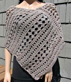 Tan Crocheted Poncho