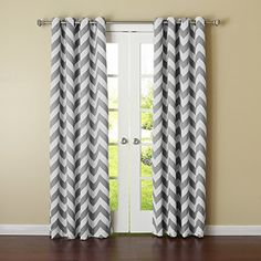 "Best Home Fashion Room Darkening Chevron Print Curtains - Antique Bronze Grommet Top - Grey - 52""W x 95""L - (Set of 2 Panels) Best Home Fashion http://www.amazon.com/dp/B00UIAP0E8/ref=cm_sw_r_pi_dp_kjN7vb09ZPX4Z"