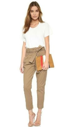 FRAME DENIM Le Skinny Paper Bag Trousers
