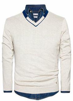 HE BY MANGO - Cashmere cotton-blend sweater #SS14 #Menswear