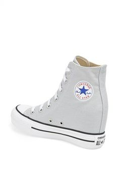 Converse Chuck Taylor All Star Wedge Platform High-Top Sneaker Converse Wedge Sneakers, Style Converse, Cute Converse, Sneaker Heels, High Top Sneakers, Grunge Style, Soft Grunge, Galaxy Converse, Doc Martins