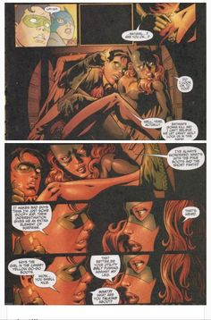 Robin(Dick Grayson) and Batgirl(Barbara Gordon) stuck in a safe. Nightwing Annual #2