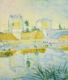 Van Gogh, The Seine with the Clichy Bridge, Summer 1887. Oil on canvas, 55 x 46 cm. Private collection.