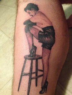 Fetish John Willie tattoo.