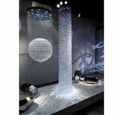 cascade chandelier 660 lb Vincent Van Duysen for Swarovski
