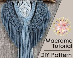 Macrame feather in beautiful vibrant colour approx 30 cm long Macrame Wall Hanging Patterns, Macrame Patterns, Macrame Art, Macrame Design, Hanging Tapestry, Yarn Crafts For Kids, Macrame Tutorial, Kit, Etsy