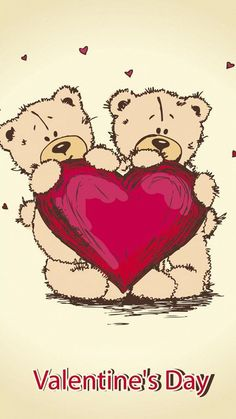 Valentine's Day Teddy. Happy Teddy Day! Tap to see more Teddy iPhone & Android wallpapers, backgrounds, fondos! - @mobile9