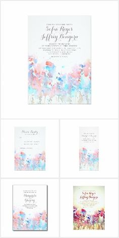 Watercolor Meadow Flowers Romantic Wedding Collection. This rustic country wedding set / stationary / suite may include: Wedding invitation cards, wedding envelopes, wedding RSVP Cards, wedding address labels, save the dates, wedding programs, wedding thank you cards, rehearsal dinners, stamps and more matching wedding products. Click image to see all available matching items.