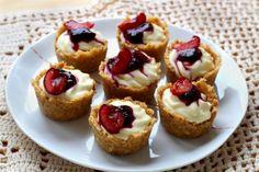 Mini cheesecake de cerejas