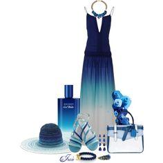 ombré blue dress by josiriou on Polyvore