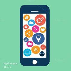 Smartphone material design blue