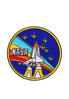 Nasa NASA Retro Rocket Logo Enamel Pin - Celebrate over the 60 years of the space program with pride wearing this retro NASA pin. Nasa Photos, Nasa Images, Nasa Pictures, Nasa Rocket, Nasa Hoodie, The Bigbang Theory, Rockets Logo, Doodle, Anime Galaxy