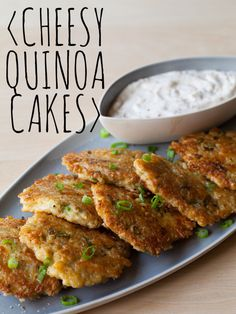 Cheesy Quinoa Cakes - I just made these and added sautéed spinach and onion, soooooo delicious, nutritious and incredibly easy to make !!!!