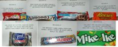 Treasure hunt for anniversary, with chocolate as prizes for each clue! So cute!