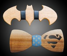 Batman v. Superman Wooden Bow Ties | DudeIWantThat.com