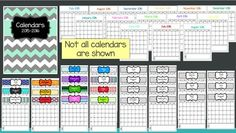 FREE Teacher Binder Calendars 2015-2016 from The Resourceful Teacher on TeachersNotebook.com - - Free set of calendars to use in a Teacher Binder for the 201-2016 school year. Includes 3 color calendars and one black and white.
