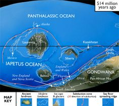 The supercontinent Pannotia had begun to break up… Earth Science, Science And Nature, Plate Tectonics, Prehistoric Creatures, Ancient Mysteries, Tsunami, Europe, World History, Natural History