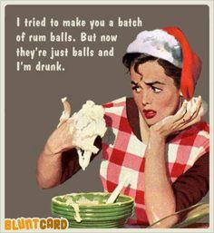 Perhaps we should make some rum balls this Christmas season?
