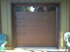Brown Garage Doors With Windows clopay classic line steel garage door in chocolate brown with