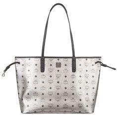 MCM Medium Reversible Shopper ($700) ❤ liked on Polyvore featuring bags, handbags, tote bags, mcm handbags, white handbags, white tote, shopper tote and lightweight tote