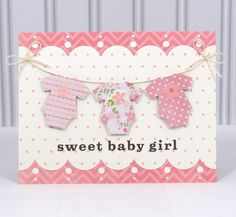 Baby Girl Card by Amanda Coleman