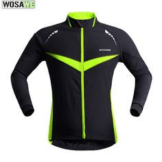 WOSAWE Ropa Ciclismo Invierno Men Windproof Warm Cycling Clothes Outdoor Sport Running Jacket Winter Bike Bicycle Cycling Jersey #Affiliate