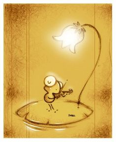 The Violin by ~faboarts (deviantArt) Frog And Toad, Heart Art, Cute Illustration, Cute Drawings, Traditional Art, Cute Art, Artsy Fartsy, Illustrators, Cute Pictures
