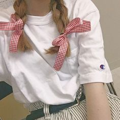 Fordeal-The best online shopping center,New arrival,Big discount,Your fashion choice. Red Gingham, Hair Ties, Easy Hairstyles, Ruffle Blouse, Plaid, Bows, Fashion Outfits, Trending Outfits, Stylish