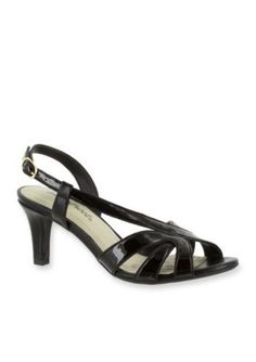 Easy Street Black Patent Desi Dress Sandal
