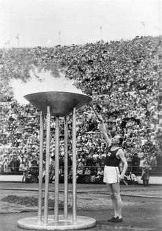 50s were a time of economic growth. Olympics were held in Helsinki in 1952. The legendary Finnish long distance runner Paavo Nurmi lighting the Olympic torch
