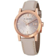 Burberry Luxury Rare Rose Gold Watch Womens Unisex Men The City Beige Authentic Leather Beige Dial Date Burberry Models, Burberry Women, Latest Watches, Cool Watches, Women's Watches, Daniel Wellington, Emporio Armani, Marc Jacobs, Brand Name Watches